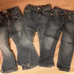 Lot of 3 pairs 3T Children's Place girl's jeans